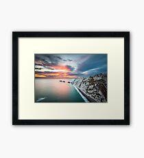 The Needles Sunset Framed Print