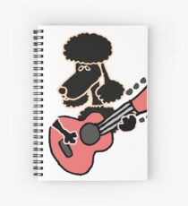 Cool Funny Poodle Dog Playing Guitar Spiral Notebook