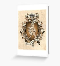Stag Deer Coat Of Arms Heraldry Greeting Card