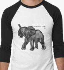 Geometric Giant #1: Elephant Men's Baseball ¾ T-Shirt