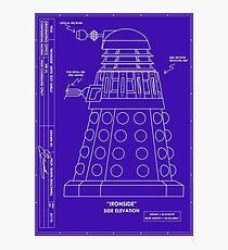 Bracewell's Ironside (Dalek) Blueprints Photographic Print