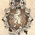 Unicorn Coat Of Arms Heraldry by Heather Hitchman
