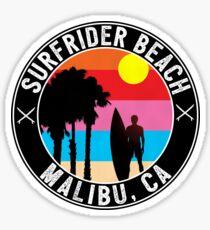 SURFRIDER BEACH MALIBU CALIFORNIA SURFING SURF SURFER BOOGIE BOARD OCEAN WAVES Sticker