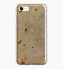 Soft Taco Tortilla texture close-up photo iPhone Case/Skin