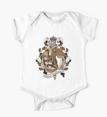 Octopus Coat Of Arms Heraldry One Piece - Short Sleeve