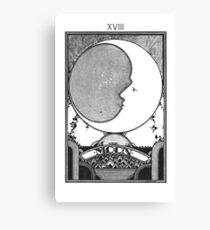 Moon Tarot Card - Occult Witch Tarot Canvas Print