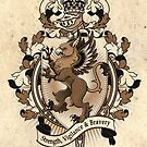 Gryphon Coat Of Arms Heraldry by Heather Hitchman