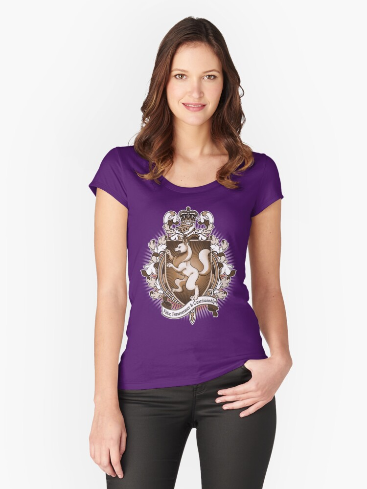 Wolf Coat Of Arms Heraldry Women's Fitted Scoop T-Shirt Front