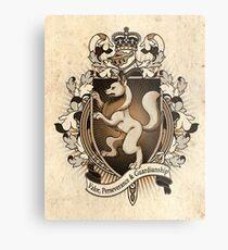 Wolf Coat Of Arms Heraldry Metal Print