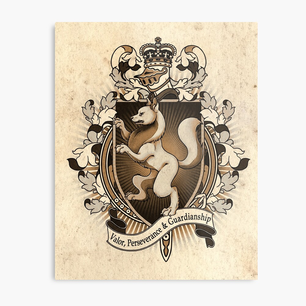 Wolf Coat Of Arms Heraldry Metal Print