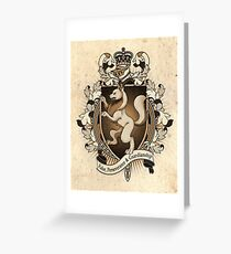 Wolf Coat Of Arms Heraldry Greeting Card