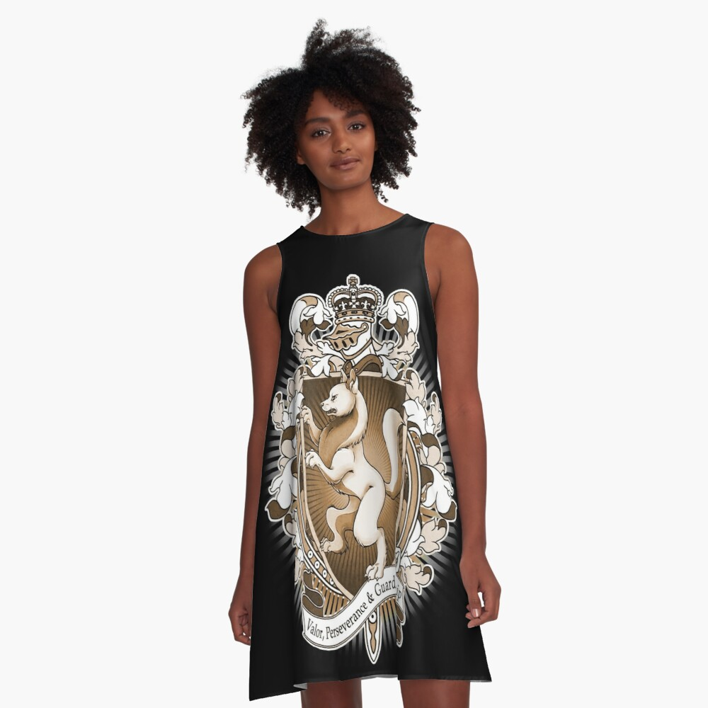 Wolf Coat Of Arms Heraldry A-Line Dress