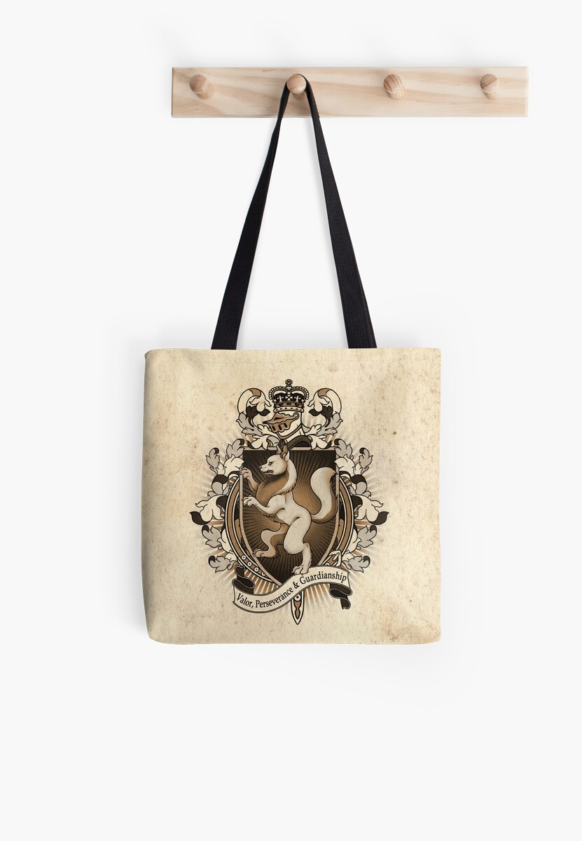 Wolf Coat Of Arms Heraldry by Heather Hitchman