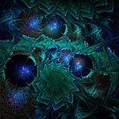 Blue Fractal Jewels by Ann Garrett