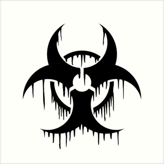 Melting Biohazard Symbol Art Prints By Gilberticus Redbubble