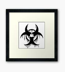 Melting Biohazard Symbol Framed Print