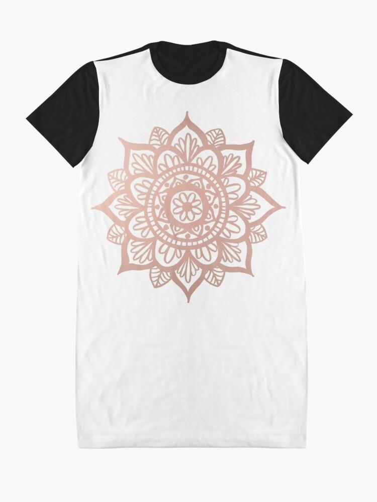 Vista alternativa de Vestido camiseta Nuevo Mandala de oro rosa
