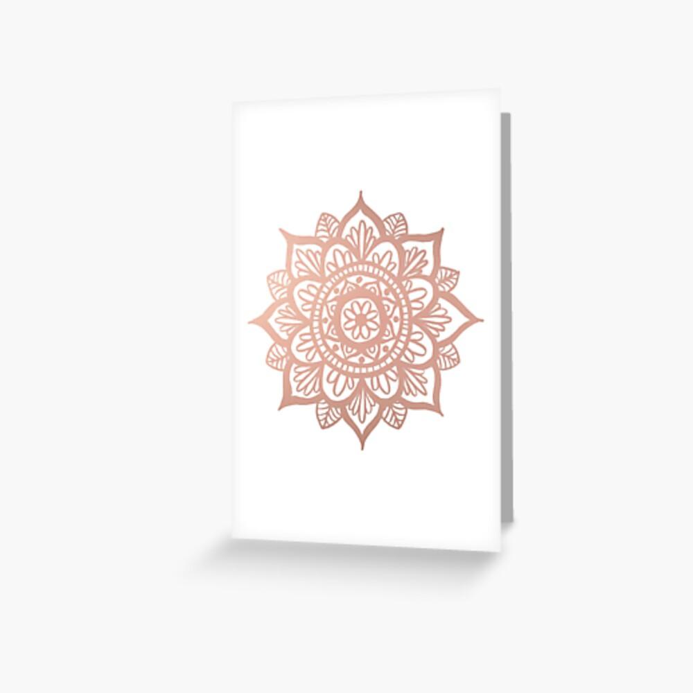 Nuevo Mandala de oro rosa Tarjetas de felicitación