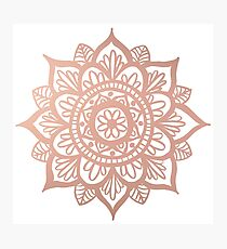 Neue Rose Gold Mandala Fotodruck