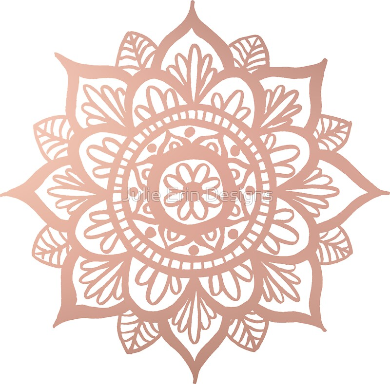 Quot New Rose Gold Mandala Quot Stickers By Julieerindesign