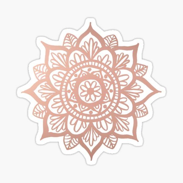 New Rose Gold Mandala Sticker