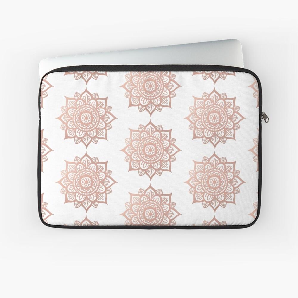 Nuevo Mandala de oro rosa Funda para portátil