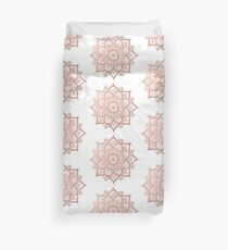 New Rose Gold Mandala Duvet Cover
