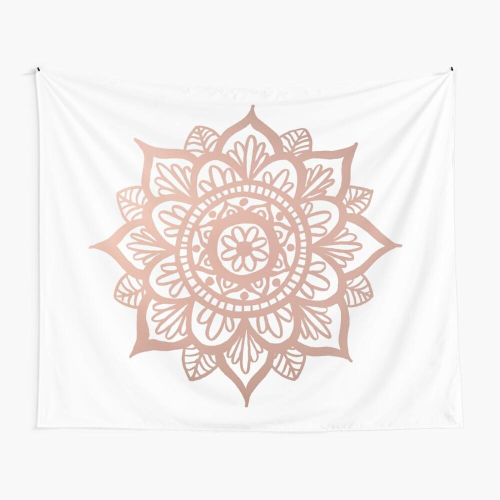 Nuevo Mandala de oro rosa Tela decorativa