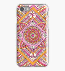 Pink & Tangerine Diamond Mandala  iPhone Case/Skin