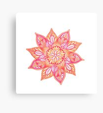 Pink and Orange Flower Canvas Print