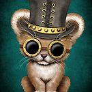 Steampunk-Baby-Löwe Cub von jeff bartels
