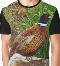 Mongolian Ringnek Pheasant Graphic T-Shirt