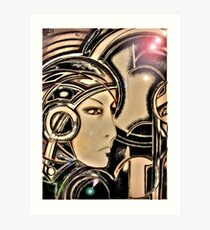 art deco sci fi ,Jacqueline Mcculloch Art Print