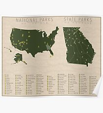 US National Parks - Georgia Poster