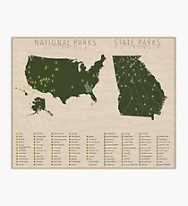 US National Parks - Georgia Photographic Print