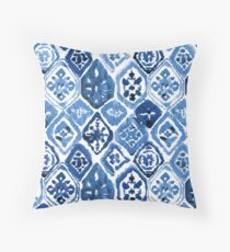 Arabesque tile art Throw Pillow