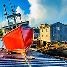 Fishing Boat Harbour Mist by kenmo