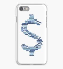 Dollar Shape Business Word Cloud iPhone Case/Skin