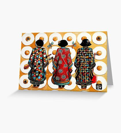 Tang Court Trio Musicians Greeting Card