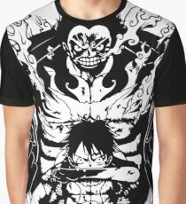 Luffy Gear 4 Transformation (White Version) Graphic T-Shirt