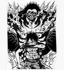 Luffy Gear 4 Transformation (White Version) Poster