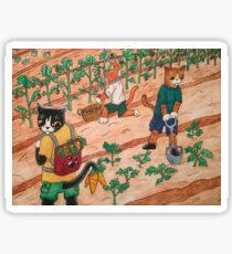 Summer Harvest Cats Sticker
