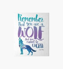 Remember that you are a wolf. And you cannot be caged. ― Sarah J. Maas, A Court of Wings and Ruin  Art Board