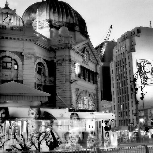 """"""" Flinders Street Station ' by Mat Moore"""