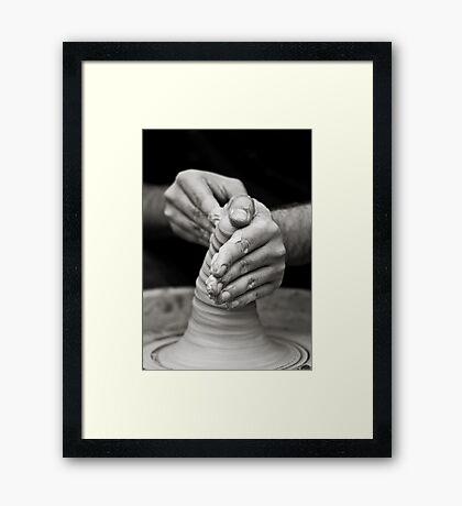 hands of worker Framed Print