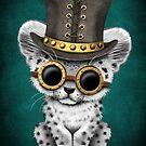 Steampunk Schnee-Leopard Cub von jeff bartels
