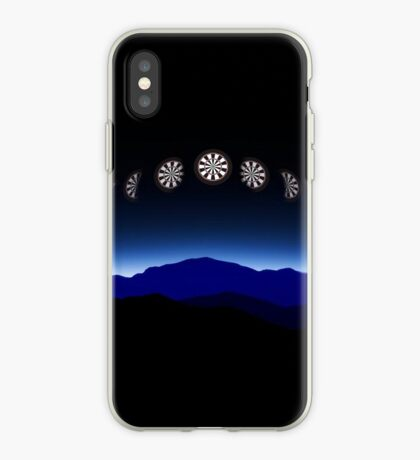 Moon Phases Darts Shirt iPhone Case