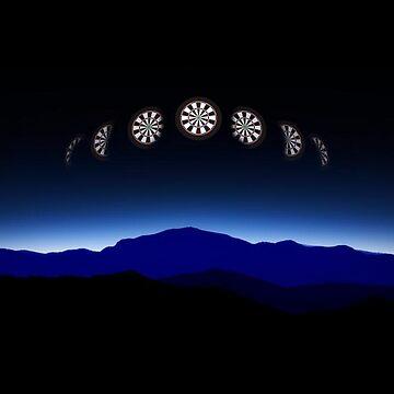 Moon Phases Darts Shirt by mydartshirts