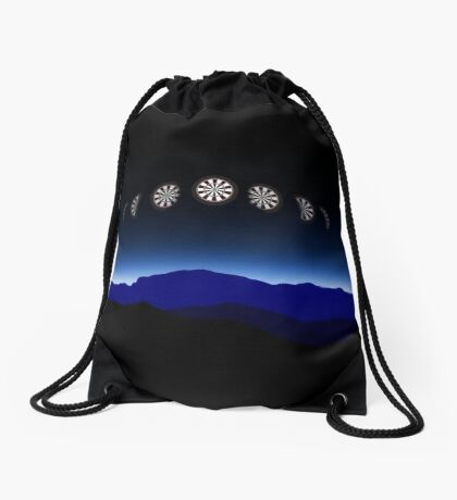 Moon Phases Darts Shirt Drawstring Bag
