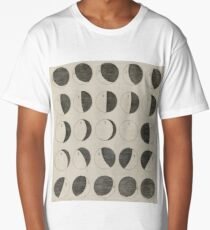 Antique Moon Phases Chart Long T-Shirt